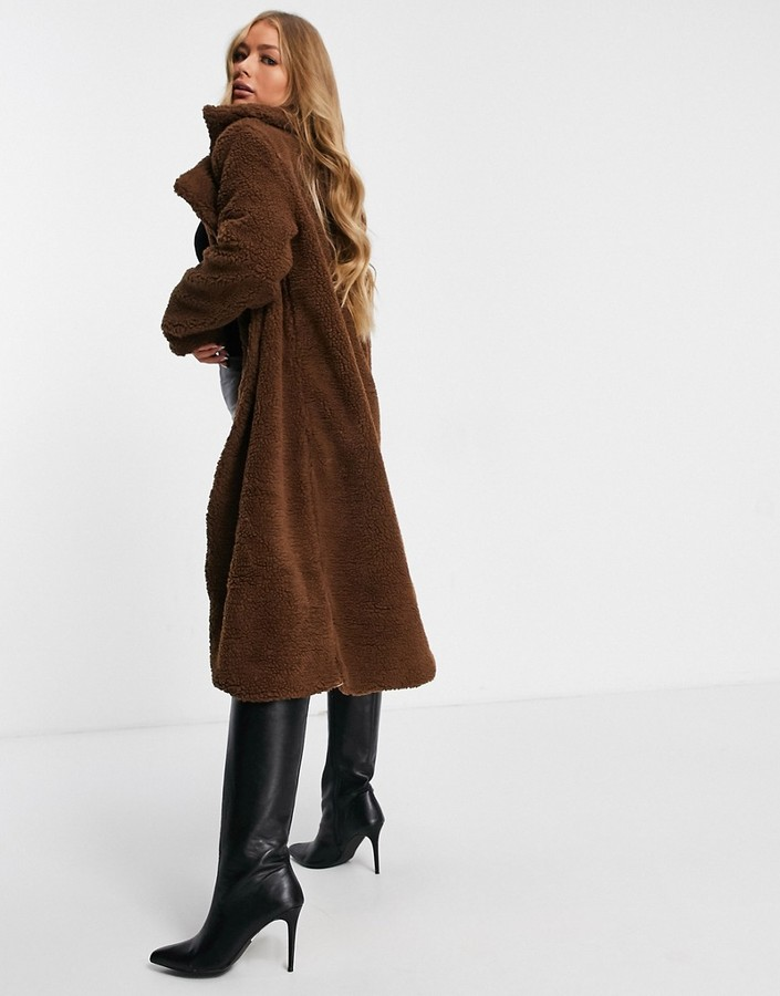 Thumbnail for your product : Parisian teddy coat in brown