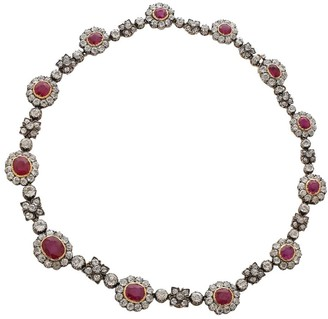 Fred Leighton Victorian Ruby and Diamond Necklace