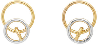 Charlotte Chesnais Gold and Silver System Earrings
