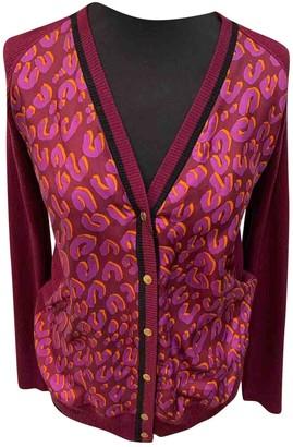 Louis Vuitton Burgundy Silk Knitwear