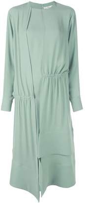 Tibi modern asymmetric drape dress