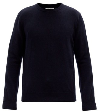 The Row Benji Crew-neck Cashmere Sweater - Dark Navy