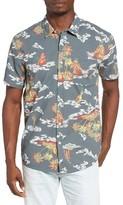 Quiksilver Men's Island Apocalypse Shirt Trim Fit Sport Shirt