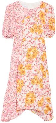 Donna Morgan Floral Sharkbite Hem Georgette Dress