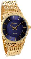 Geneva Platinum Gold & Black Bracelet Watch