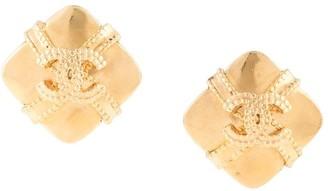 Chanel Pre Owned 1997s CC logos rhombus earrings