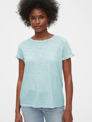 Gap Ruffled Sleeve T-Shirt