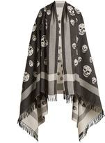 Alexander McQueen Skull wool and cashmere-blend wrap