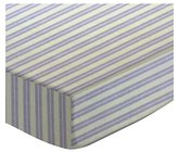 Camilla And Marc SheetWorld Fitted Crib / Toddler Sheet - Lavender Dual Stripe - Made In USA - 28 inches x 52 inches (71.1 cm x 132.1 cm)