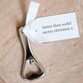 Twenty-Seven Personalised Christmas Bottle Opener And Tag