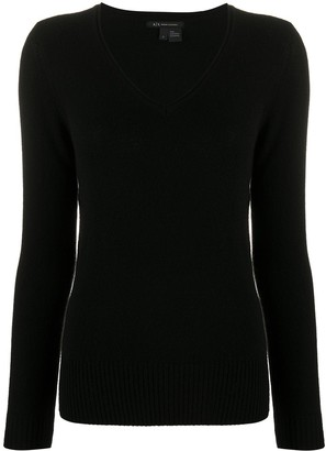 Armani Exchange V-Neck Knitted Jumper