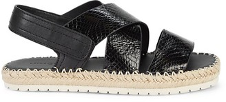 Vince Tenison Snakeskin-Embossed Leather Espadrille Sandals
