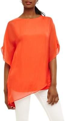 Phase Eight Harper Silk Blouse, Orange