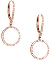 Nina Gilin 14K Rose Gold & Diamond Hoop Earrings