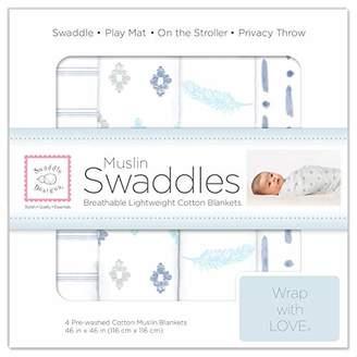 Swaddle Designs Muslin Blankets, Blue Denim