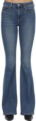 L'Agence Bellhigh Rise Flared Cotton Denim Jeans