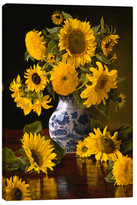 iCanvas Sunflowers in Blue & White Chinese Vase (Giclee Canvas)