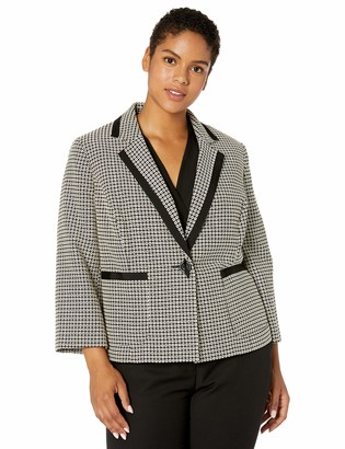 Kasper Women's Notch Collar GEO Jacquard Jacket