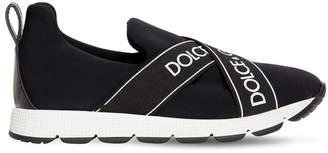 Dolce & Gabbana NEOPRENE SNEAKERS W/ LOGO BANDS