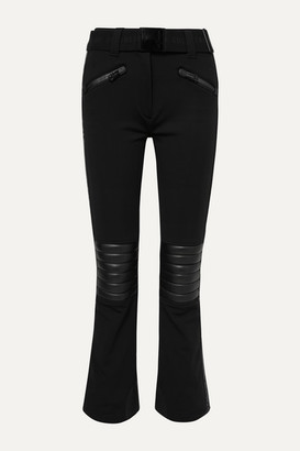 Goldbergh - Rocky Faux Leather-paneled Ski Pants - Black