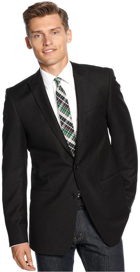 Calvin Klein X Jacket, Shiny Solid Slim Fit Blazer