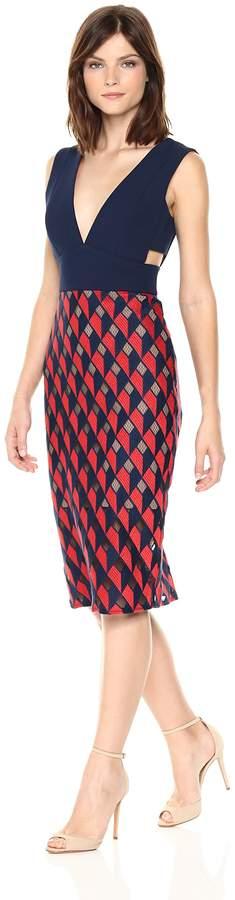 BCBGMAXAZRIA Azria Women's Rosalina Woven V-Neck Peplum Dress