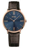 HUGO BOSS 1513458 Croc-Embossed Leather Strap Watch One Size Assorted-Pre-Pack