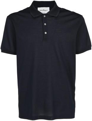 Salvatore Ferragamo Logo Embroidered Polo Shirt