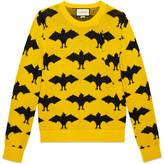 Gucci Bat jacquard crewneck sweater