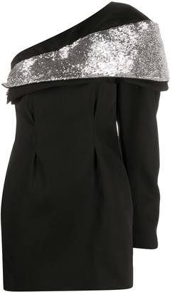 Isabel Marant Sequin Panel Asymmetric Dress