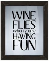 PTM Images Wine Flies Framed Silkscreen
