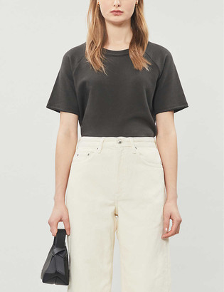 Me And Em Cropped stretch cotton-jersey T-shirt