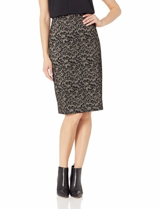 Kasper Women's Animal Knit Jacquard Slim Skirt