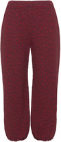 Isolde Roth Plus Size Jacquard cotton jersey trousers