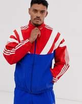Adidas Originals adidas Originals Balanta trackjacket with 3 stripes and panelling in red