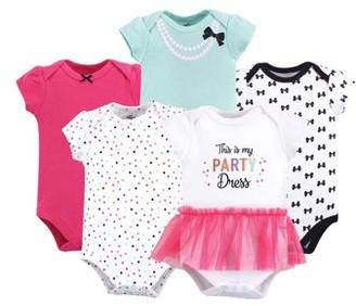 Little Treasures Little Treasure Baby Girl Bodysuits 5-pack
