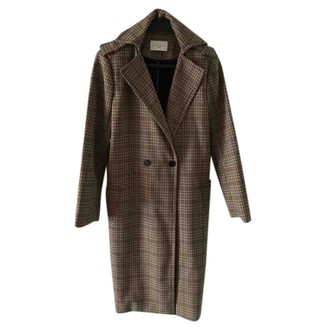 Sandro Fall Winter 2018 Beige Wool Coat for Women