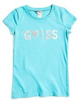 GUESS Mandy Sparkle Logo Tee (4-16)