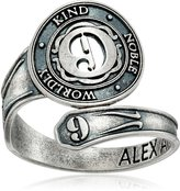 """Alex and Ani Numerology"""" Number Nine, Spoon Ring, Size 7-9"""