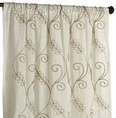 "Pier 1 Imports Embroidered Jute 84"" Curtain"