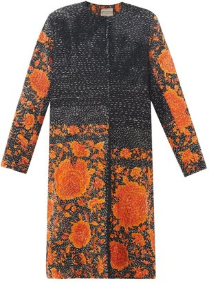 By Walid Tanita 19th-century Silk Coat - Black Orange