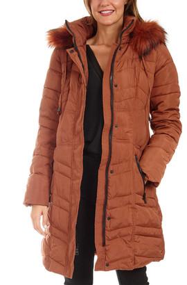 Kensie Long Down Jacket
