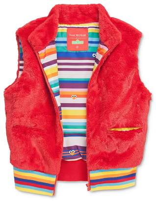 Sesame Street Isaac Mizrahi Loves Unisex Elmo Faux Fur Vest, Little Kid - 100% Exclusive