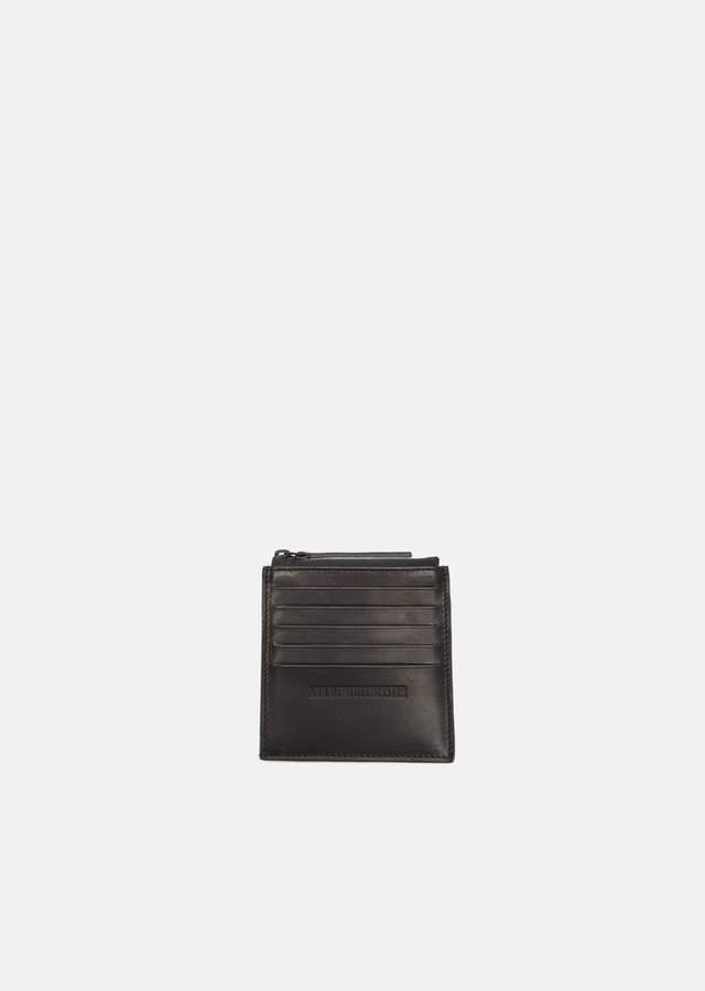 Ann Demeulemeester Leather Coin Card Wallet Jacky Black