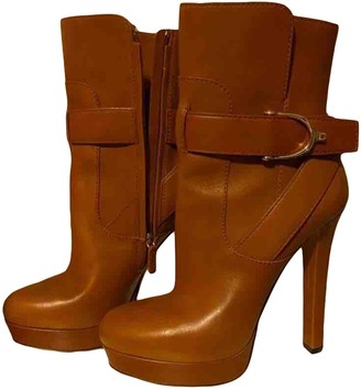 Gucci Camel Leather Ankle boots