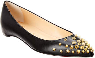 Christian Louboutin Spikyshell Leather Ballet Flat