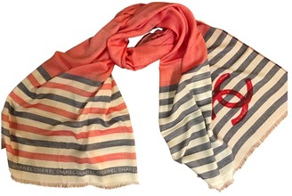 Chanel Red Cashmere Scarves