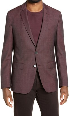 HUGO BOSS Hartlay Slim Fit Solid Wool Sport Coat
