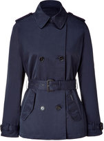 Classic Navy Short Oberlin Trench Coat