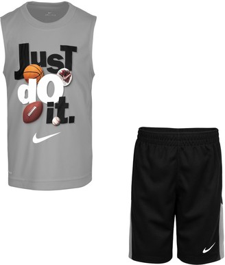 Nike Boys 4-7 Just Do It Muscle Tank Top & Shorts Set